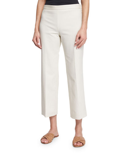 Seloc Straight-Leg Cropped Pants
