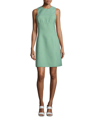 Sleeveless Gingham A-Line Dress, Lawn