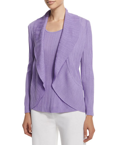 Textured Cascade Jacket, Wisteria, Plus Size