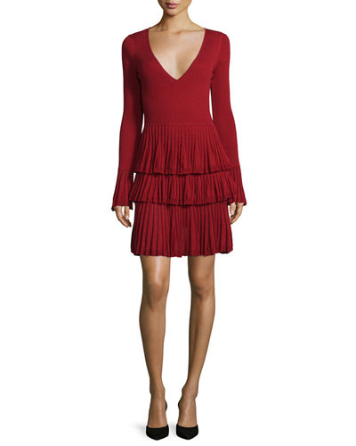 Sharlynn Tiered Pissé Knit Dress
