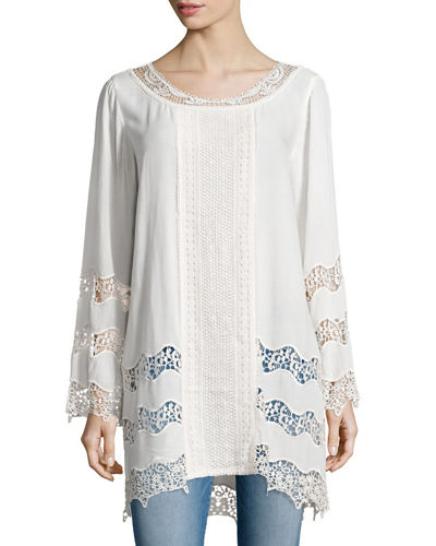 Imani Georgette and Crochet Tunic