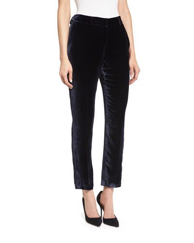 Alanis High-Sheen Cropped Pants