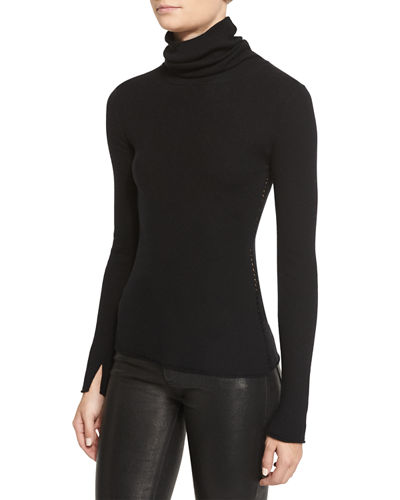 Roberta Long-Sleeve Ribbed Wool Sweater