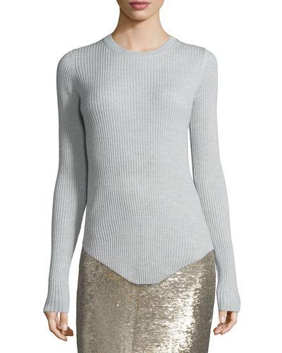 Serena Ribbed Wool Top
