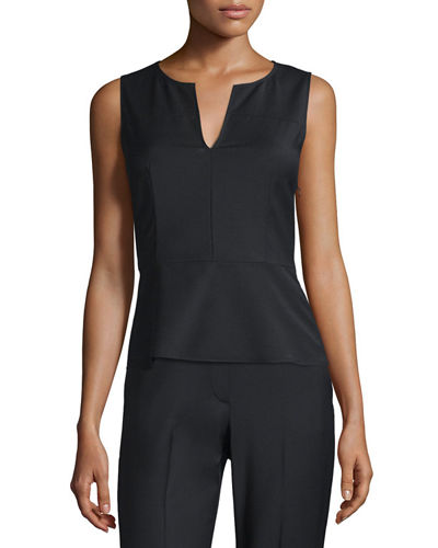 Etia Sleeveless Peplum Top
