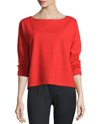 Fisher Project Long-Sleeve Wool Boxy Top
