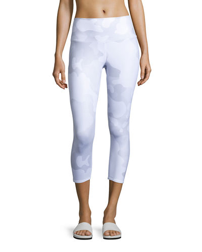 Alo Yoga Airbrush Printed Sport Capri Leggings