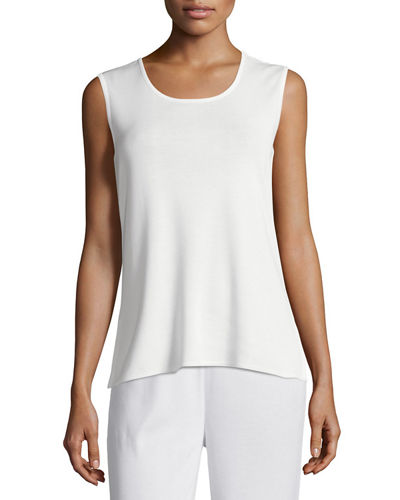 Knit Scoop-Neck Tank Top, Plus Size