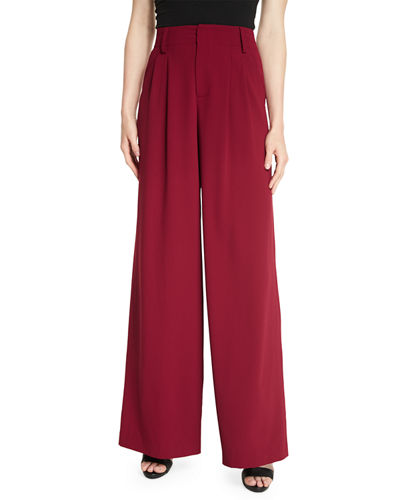 Alice + Olivia Eloise Wide-Leg Trousers