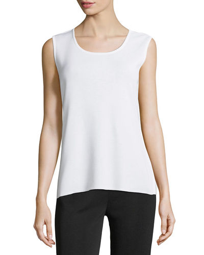 Scoop-Neck Knit Tank Top