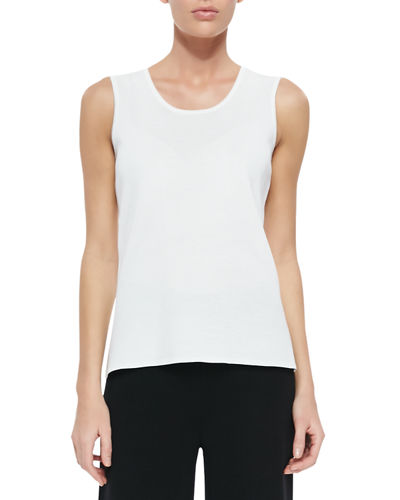 Misook Knit Scoop-Neck Tank Top, Petite
