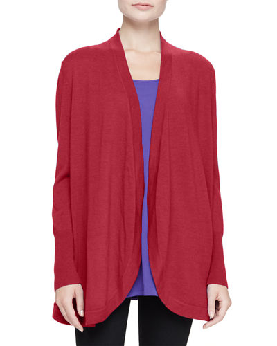 Eileen Fisher Merino Jersey Long Cardigan