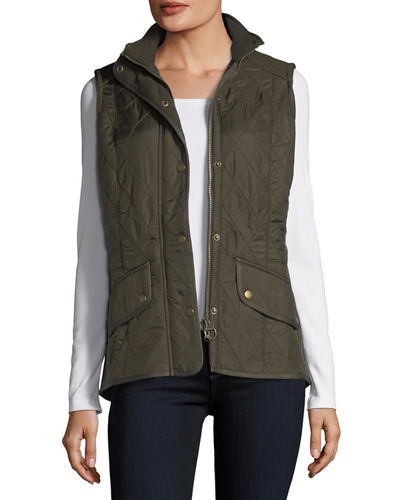Cavalry Polar Diamond-Quilted Fleece-Lined Gilet Vest