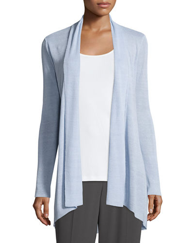 Eileen Fisher Linen-Blend Shaped Cardigan, Plus Size