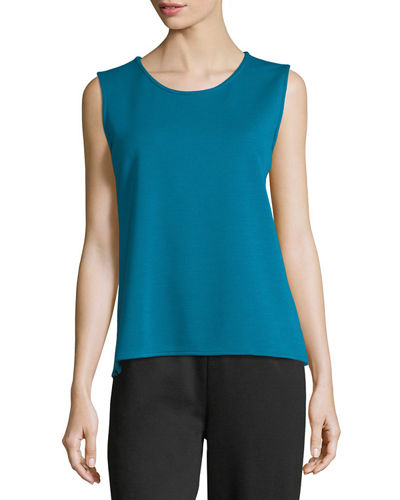Sleeveless Wool Long Tank