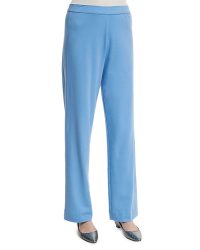 Stretch-Cotton Interlock Pants, Petite