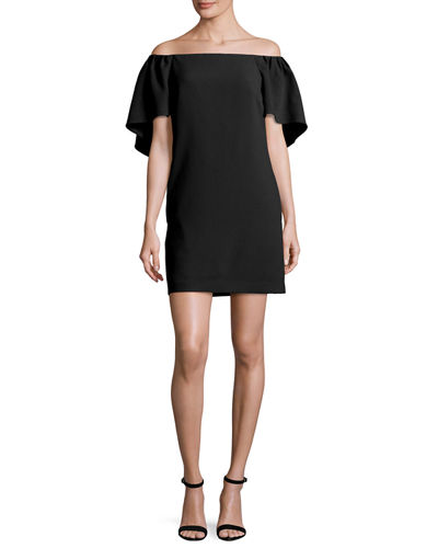 Zeal Crepe Off-the-Shoulder Mini Dress