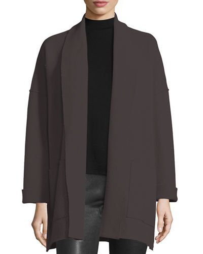 Eileen Fisher Boiled Wool Kimono Jacket, Plus Size