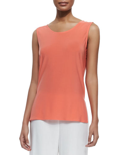 Caroline Rose Sleeveless Long Tank, Plus Size