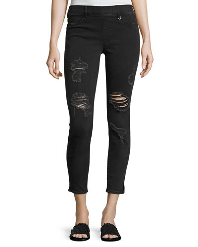 Runway Cropped Denim Legging