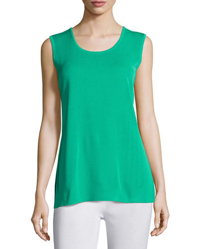 Round-Neck Sleeveless Tank