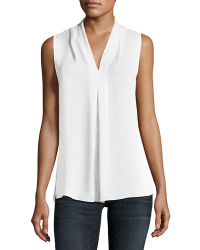Elie Tahari Nia Sleeveless Silk Blouse