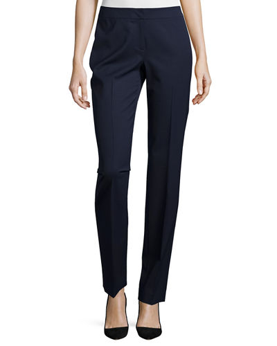 Barrow Straight-Leg Stretch-Wool Suiting Pants