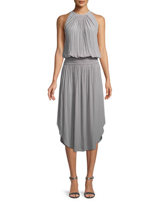 Audrey Sleeveless Blouson Midi Dress by Ramy Brook