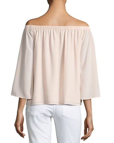 Summer Crepe Off-the-Shoulder Top