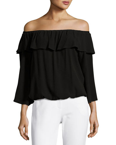 Azar Off-the-Shoulder Ruffled Top