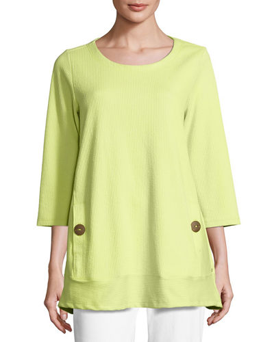 Newport Lightweight Ribbed Top, Plus Size