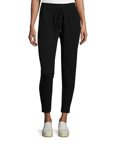 Cashmere Jog Pants with Chain Trim
