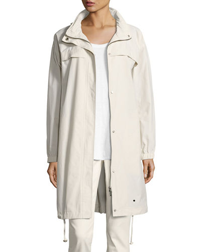 Lightweight Hooded A-line Jacket