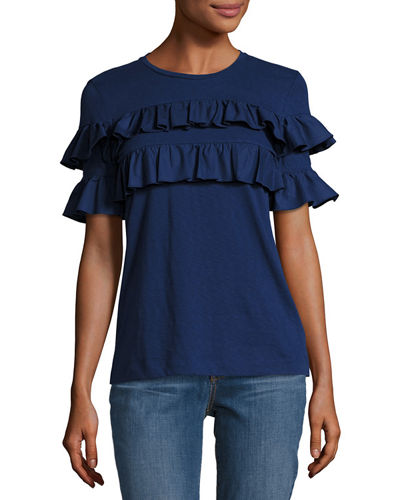 Lenox Short-Sleeve Ruffled T-Shirt