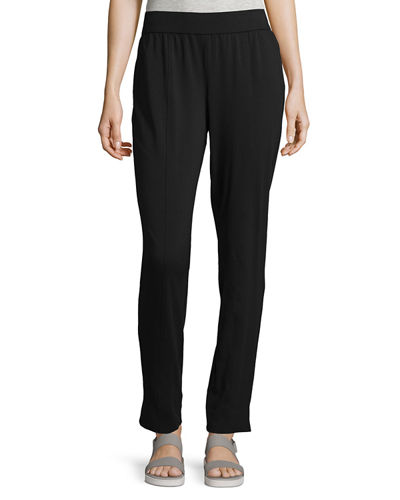 Eileen Fisher Organic Cotton Stretch-Jersey Slim Pants