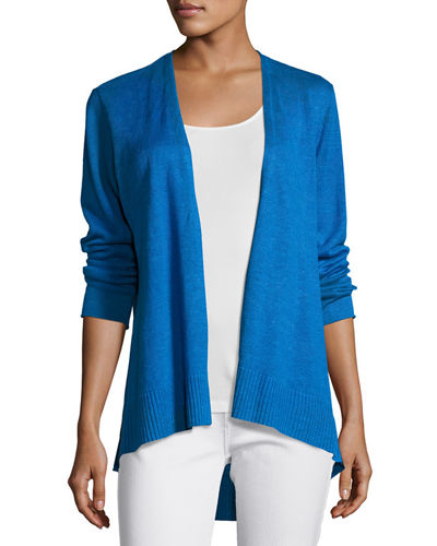 Organic Linen High-Low Cardigan