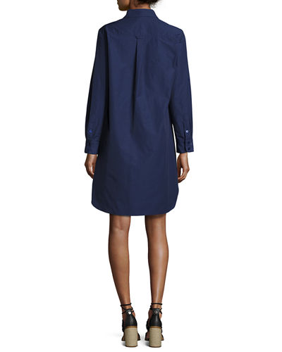 Alex Long-Sleeve Shirtdress