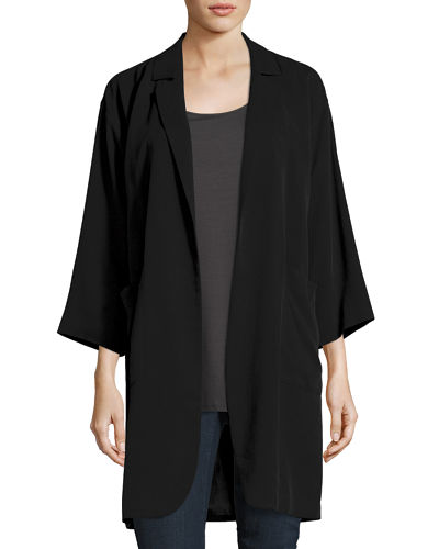 Eileen Fisher Woven Tencel® Grain Long Jacket