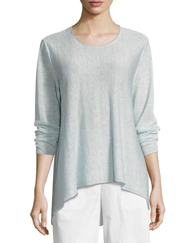 Organic Linen Knit Crepe Swing Top