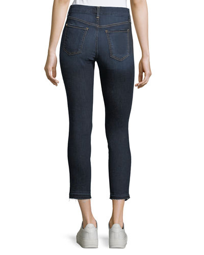 Skinny Ankle Jeans w/ Released Hem
