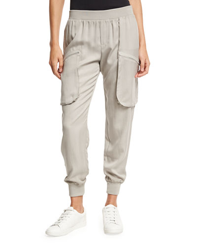 TENCEL PULL ON PANT W/ PO
