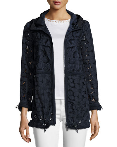 Madeleine Hooded Floral Lace Jacket