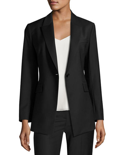 Theory Etiennette Continuous Long-Line Blazer
