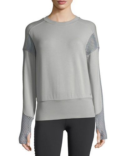 Alo Yoga Formation Long-Sleeve Top, Black