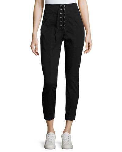 A.L.C. Kyle Lace-Up Ankle Pants