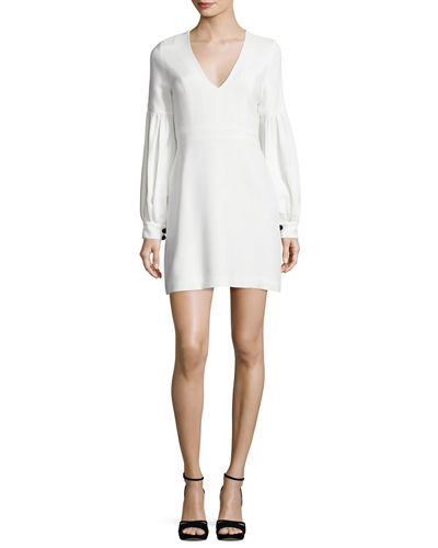 Ellena Bishop-Sleeve Minidress