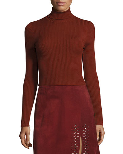 Pippa Ribbed Wool-Blend Sweater