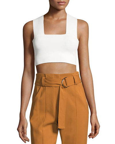 Ali Stretch Racerback Crop Top