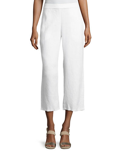 Organic Linen Straight-Leg Ankle Pants