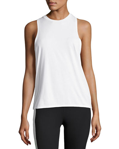 Keyhole-Back Athletic Muscle Tank Tee